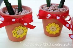 Mommy's Kitchen: Crafty Kitchen ~ Flower Pot Pens for Mother's Day & Spring Teacher Gifts.
