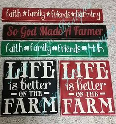 5 Signs for a 4H club - Love how these turned out