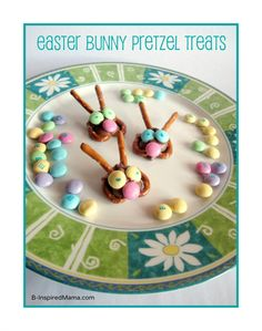 Need a fun and creative Easter treat easy enough for the kids to help make? Try these cute Easter Bunny Pretzel Treats!