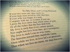 to my dear and loving husband bradstreet To my dear and loving husband - if ever two were one, then surely we.