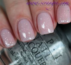 OPI Pirouette My Whistle (one coat) over OPI You Callin' Me A Lyre