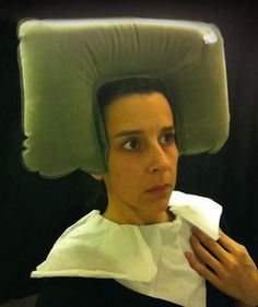 """Nina Katchadourian, """"Seat Assignment: Lavatory Self-Portraits in the Flemish Style"""""""