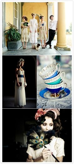 Vintage wedding beauty with real depth and a twist. This is amazing.