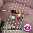 Video: How to Use a loom.  One of many but a place to start. Beadaholique  #seed #bead #tutorial
