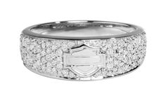 harley  davisdon ladies rings   Harley-Davidson Womens Infinity Circle Diamond Band Ring
