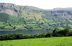 Irish hillside.