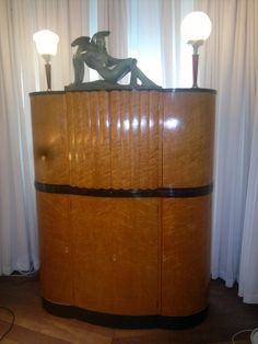 Art Deco Cocktail Cabinet | From a unique collection of antique and modern cabinets at http://www.1stdibs.com/furniture/storage-case-pieces/cabinets/