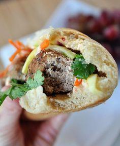 Banh Mi Sandwich - Vietnamese Meatball Sub