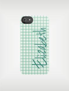 Personalized Gingham iPhone Case by adropofgoldensun