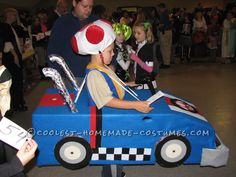 Cool Mario Bros. Toad Racing Kart Costume... Coolest Homemade Costume Contest