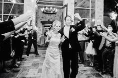 Eldorado Country Club - Bride and Groom grand exit  www.eldoradocc.com white exit, catering, grand exit, brides, black white, exit wwweldoradocccom, exit photo, country club, groom