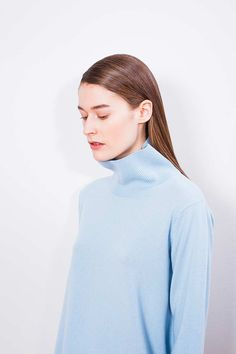 "Arela AW14 collection ""Clement Days"". Cleo turtleneck sweater in cashmere. Photography Markus Pajuniemi, model Caroline Farneman / Brand, muah Emelie Tuuminen"