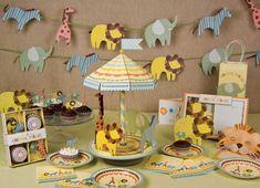 Gorgeous jungle theme baby shower ideas