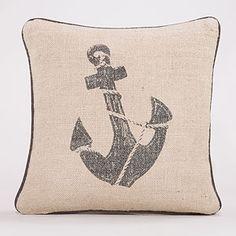 Anchors Away Throw Pillow   World Market