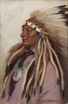 Native American Joseph Henry Sharp Chief Spotted Elk, via Flickr.