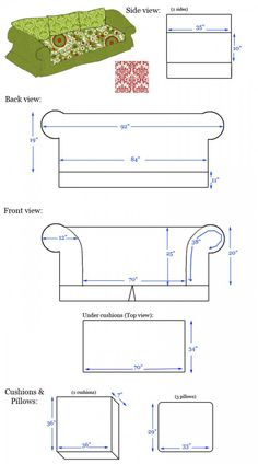 how to measure and make slip covers for your couches.
