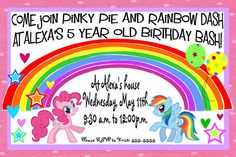 My Little Pony Invites