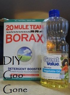 Goo Gone DIY - made of Borax and vegetable oil. Just pour a small amount of oil onto the sticker and then rub in a very small amount of Borax. The Borax acts as the mild abrasive to clean the spot, and the oil does a great job of lifting the label off of the object.