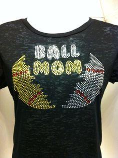 Baseball Softball Mom Rhinestone Heat Transfer DIY by ebdazzledcom, $14.00