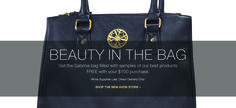 Avon Free Gift with Purchase - for a limited time, get this beautiful Sabrina Bag filled with samples for FREE with your $100 purchase at http://eseagren.avonrepresentative.com