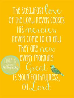 Great is Thy Faithfulness--Yellow