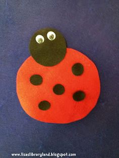 Libraryland: Flannel Friday-Little Red Bug