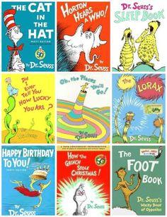Popular Dr. Seuss books.