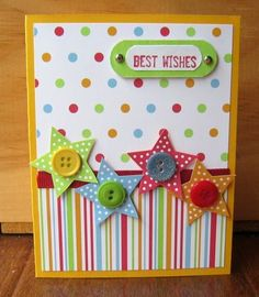 Cute card! love the patterns & stars!