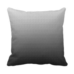 Awesome Grey Ombre pillow