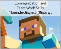 Minecraft Homeschool Learning series - Building communication skills and collaborative learning.