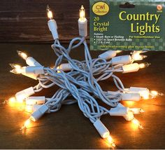 20 Clear Lights/White Cord