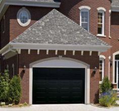 black garage door?