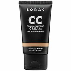 LORAC - CC Color Correcting Cream     lorac  QTY  $28.00  CC Color Correcting Cream  Item # 1497825 Size 1.23 oz  Only available online  A six-in-one tinted makeup that neutralizes, primes, moisturizes, brightens, soothes, and helps skin look healthy and youthful.