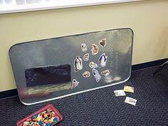 Oil drip pan magnet board