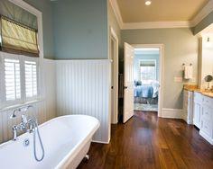 Bathroom beadboard blue on Pinterest | Painted Ceilings, Wainscoting