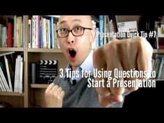 http://www.carlkwan.com In this video, you'll learn three tips for when you want to use a question to start a presentation. Starting a presentation is a great way to begin, as my buddy Jonathan Li recommends. However, you need to be aware of what may happen when you open your presentation with a question. So what you'll learn is what can happen ...
