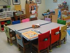 Love the chair packs. Maybe for a classroom with free standing chairs (not the desk/chair combos)