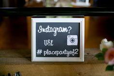 Chalkboard, Instagram wedding sign!