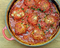 Skillet Burgers with Tomato Gravy, bun-free, on the table in an hour with pantry ingredients. #LowCarb. For Weight Watchers, just #PP5. #KitchenParade