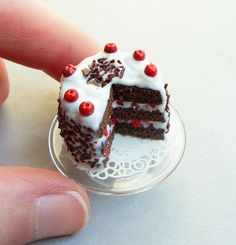 Mini black forest cake.... I want this!!!