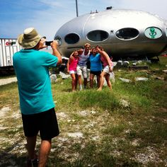 One of the most photographed and definitely one of the most unique attractions on the #OBX -- The UFO House! Spot this along your trip on NC12 in Frisco on Hatteras Island.