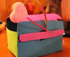 #DIY #Valentine's Day Mailbox #Craft