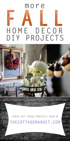 More Fall Home Decor DIY Projects