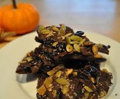 Gluten-Free Recipes: Dark Chocolate Bark with Pumpkin Seeds and Ginger