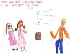 Sophia Grace & Rosie make a drawing for Ellen!
