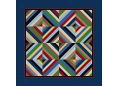 How about with dark green or brown instead of the navy? earthi quilt