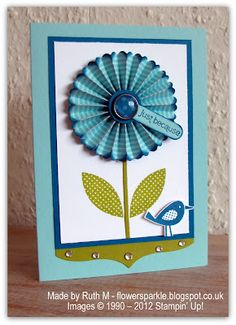 Flower Sparkle: Rosette Flower Just Because Card