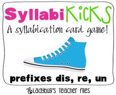 syllabication card game