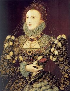1575 Queen Elizabeth I 1533-1603 The Phoenix Portrait, attr to Nicholas Hilliard.