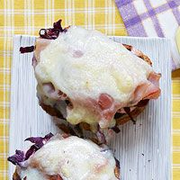Open Face Reubens with Red Cabbage Slaw